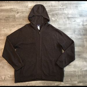 Patagonia Men's Full Zip Hooded Sweater Size L